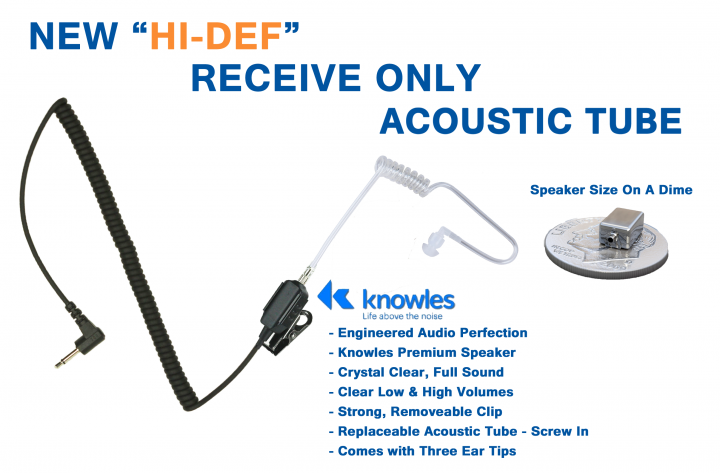 hi-def voice only acoustic tube