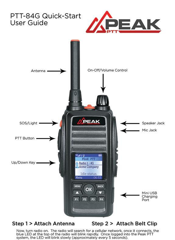 PTT-84G 4G LTE MOBILE RADIO